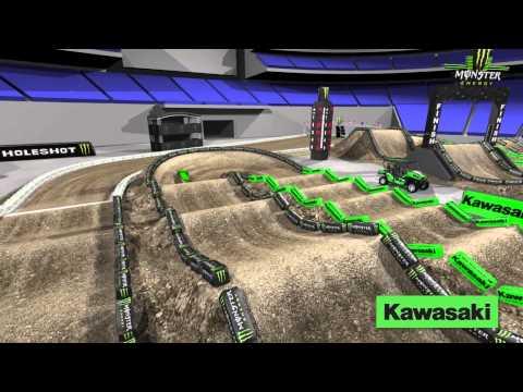 Supercross LIVE 2014 – San Diego 2814 – Monster Energy Supercross Animated Track Map