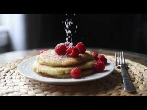 Coconut Pancakes with Maple Syrup