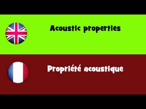 FROM ENGLISH TO FRENCH = Acoustic properties