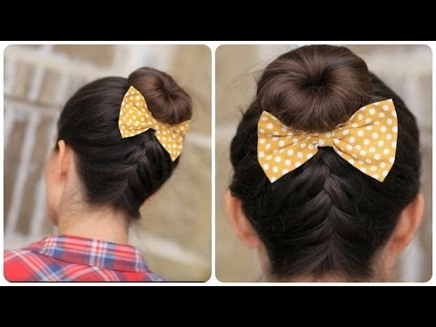 DIY French Up High Bun Cute Hair Bun Ideas YouTube