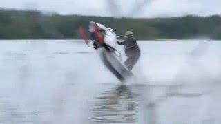 Snowmobile Vs. Jetski watercross BIISONIMAFIA