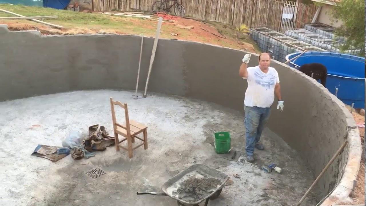 Projeto tanque de alvenaria tanque pegando forma youtube for Como hacer piscinas para tilapias