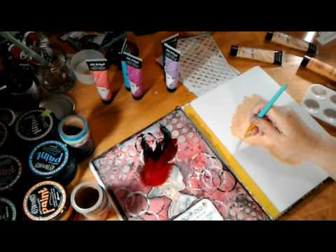 Process Video: playing with Jane Davenport Art Supplies