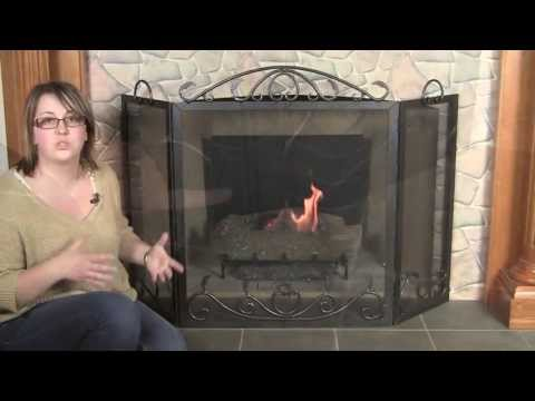 Our Elegant Scroll Fireplace Screen Adds a Touch Of Charm To Your Fire Place