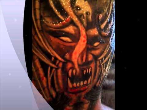 Rios Steel & Ink Demon Face Tattoo