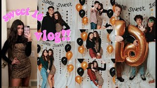 sweet 16 birthday party vlog