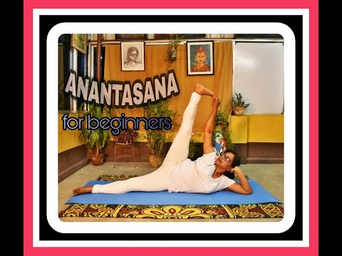 how-to-do-ananthasana-|sleeping-vishnu-pose|-simple-yoga-for-beginners-|side-reclining-leg-lift-yoga