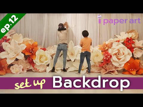 วิธีทำ ฉากดอกไม้กระดาษ 1/2 | Diy ฉากงานแต่ง EP.12 | How to made paper flower. Wedding Backdrop