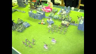 Battle for Barbie (Necrons vs Chaos Space Marines and Traitor Guard) 2011 01 10