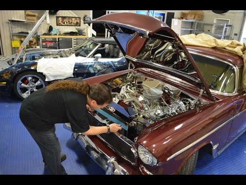 Custom 55 Chevy Belair Engine Dress Up Project