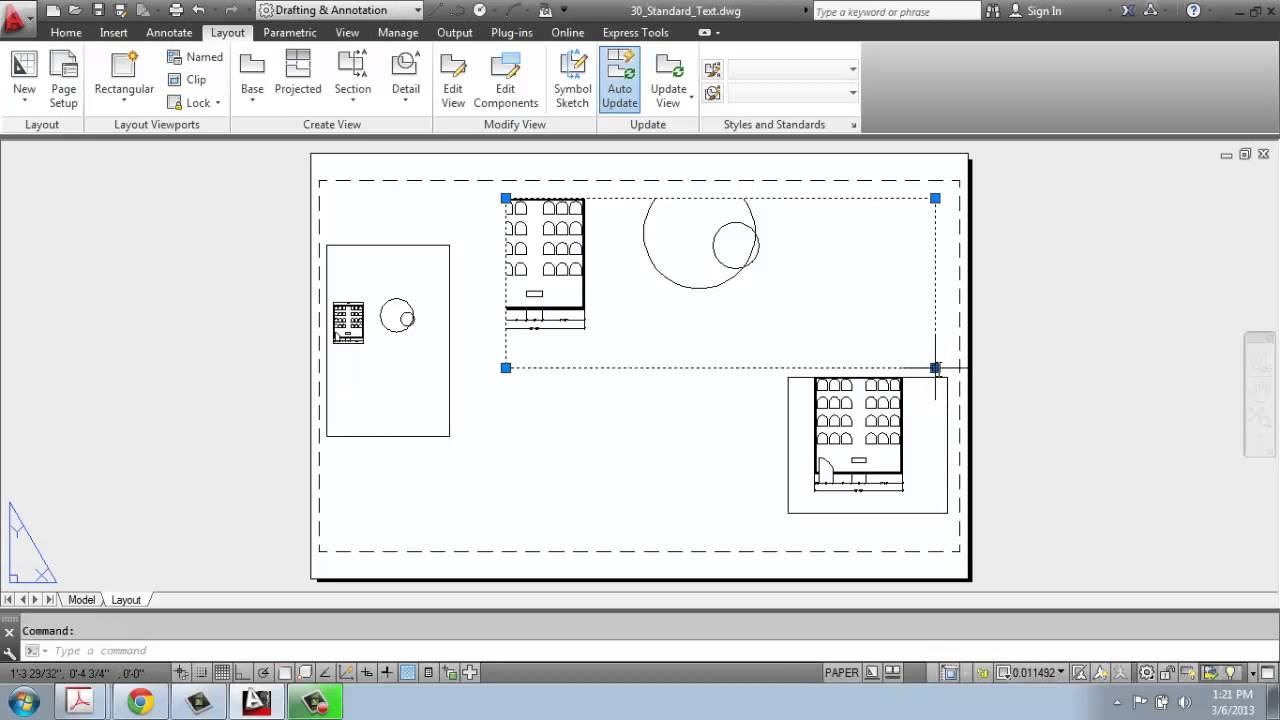 Papercraft AutoCAD 2013 - 2D Drafting Basics - Part 34 - Model Space vs. Paper Space - Brooke Godfrey