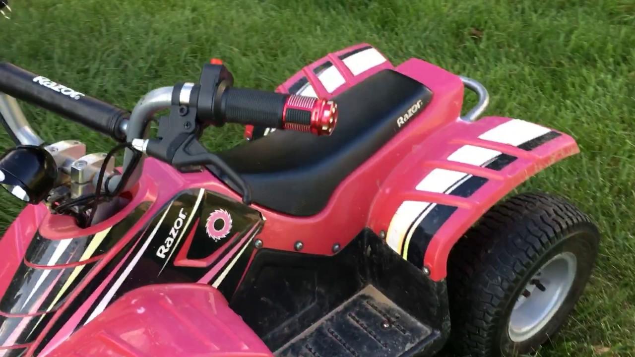 36v razor dirt quad with1000w motor upgrade