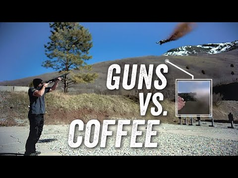 Epic Pistol Trick Shot – 9mm Coffee Grinder (58,000fps Slow-mo footage)