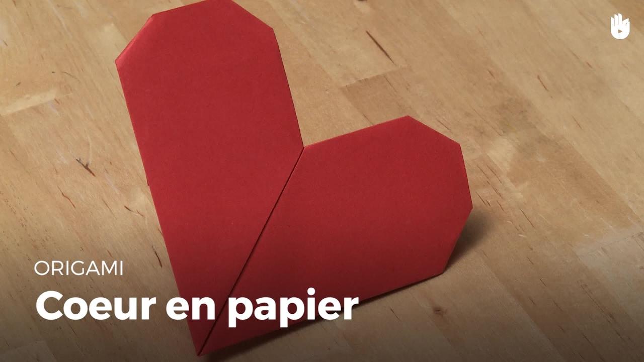 Beau Fabriquer Un Coeur En Papier #12: Faire Un Coeur En Papier | Origami