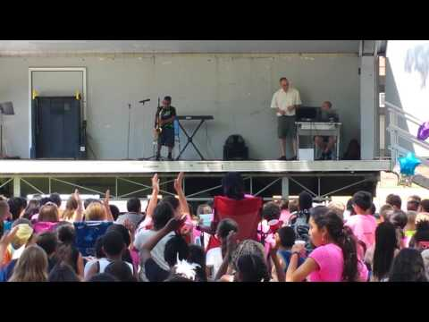 Me playing saxaphone at Gardiner Manor School Talent Show Bay Shore N.Y