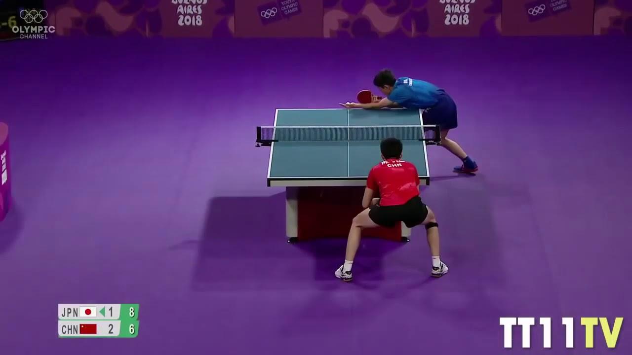 Download Tomokazu Harimoto vs Wang Chuqin - Final (2018 Youth Olympic Games)