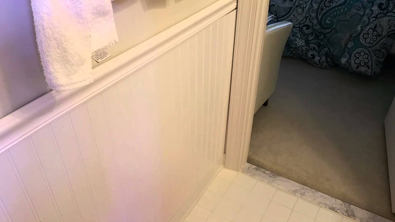 Small Bathroom Wall Beadboard Trim Project [Quick Summary] - YouTube