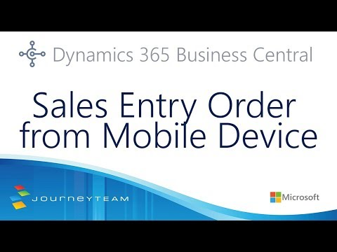 How to Enter a Sales Order in the Microsoft Dynamics Business Central Mobile App