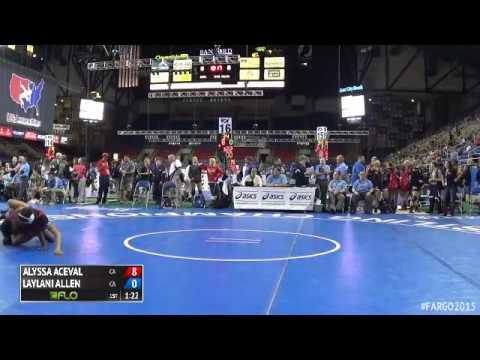 117 Quarterfinal - Laylani Allen (California) vs. Alyssa Aceval (California)