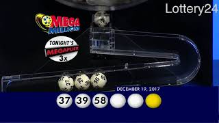 2017 12 19 Mega Millions Numbers and draw results