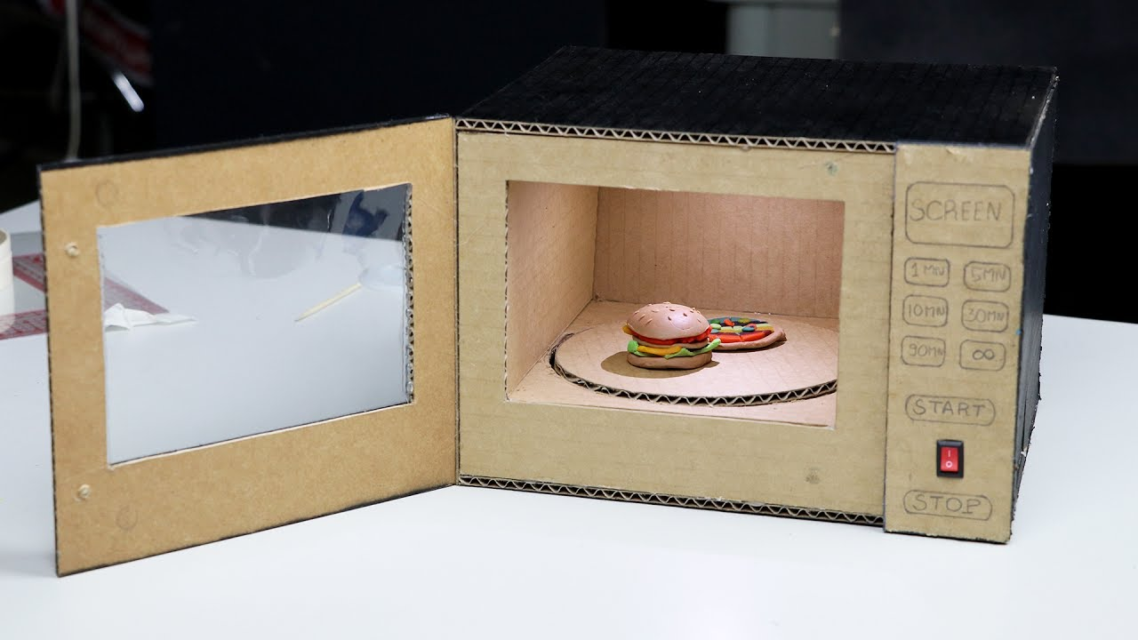 Diy Toy Microwave Oven At Home Youtube