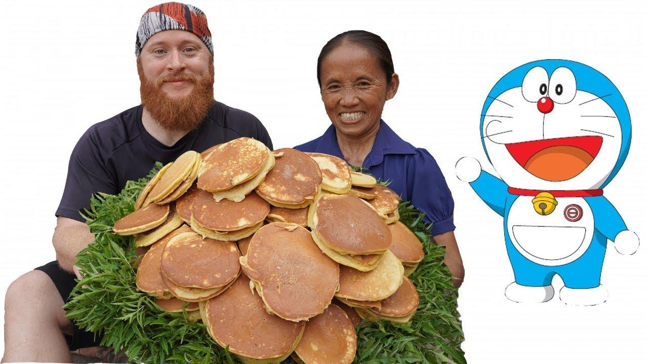 Bà Tân Vlog – Làm Mâm Bánh Doremon (Bánh Dorayaki) Siêu To Khổng Lồ | Doraemon Cake