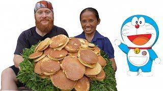 Bà Tân Vlog - Làm Mâm Bánh Doremon (Bánh Dorayaki) Siêu To Khổng Lồ | Doraemon Cake