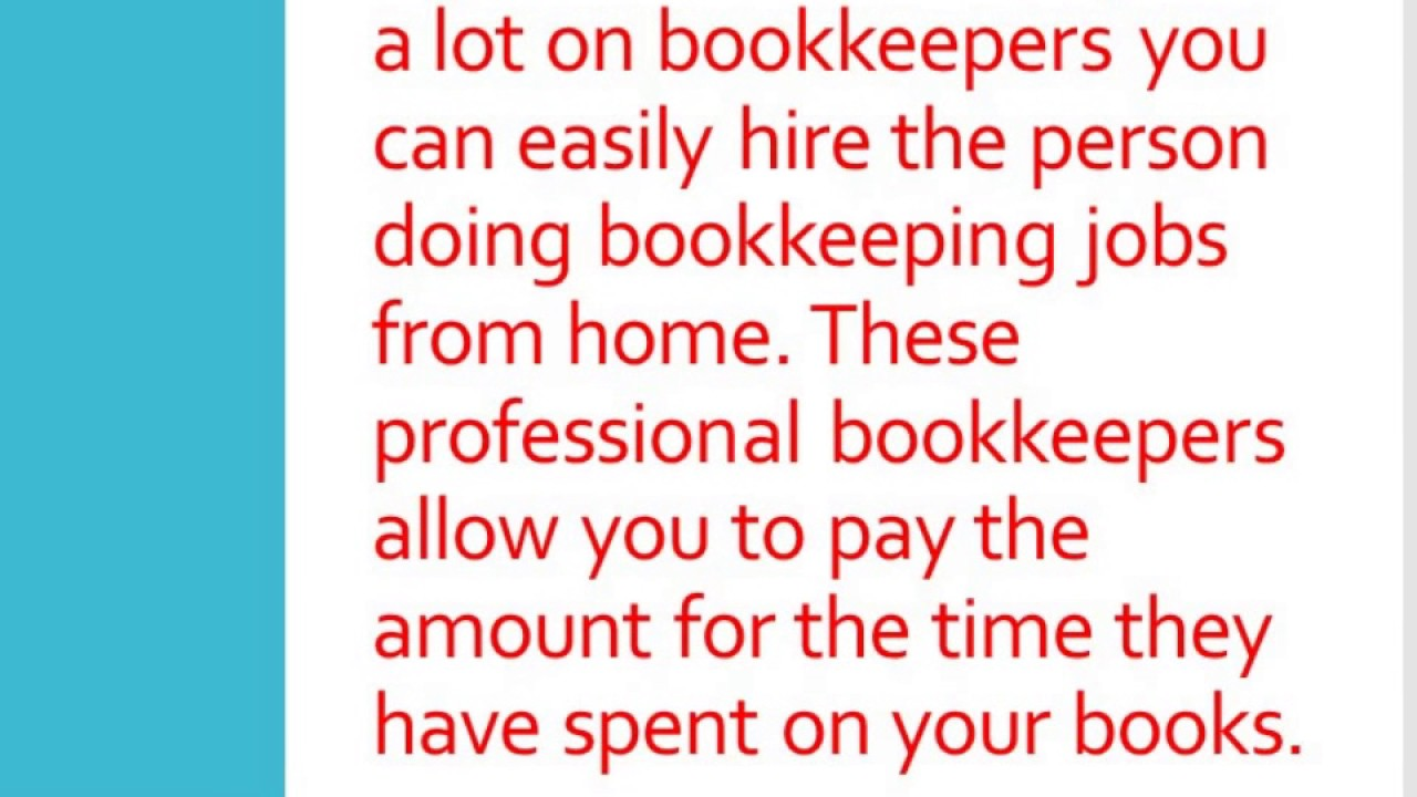 Bookkeeping jobs from home youtube bookkeeping jobs from home 1betcityfo Image collections