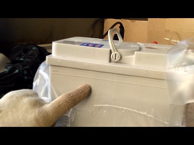 Тест нагрузочной вилкой аккумулятора Тюмень премиум 64 Ач