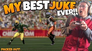 vuclip SINGLE GREATEST JUKE EVER TURNS INTO A SCORE!! Madden 17 Packed Out!