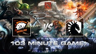 Dota 2 TI7 - 103 Minute Game Epic Ending!