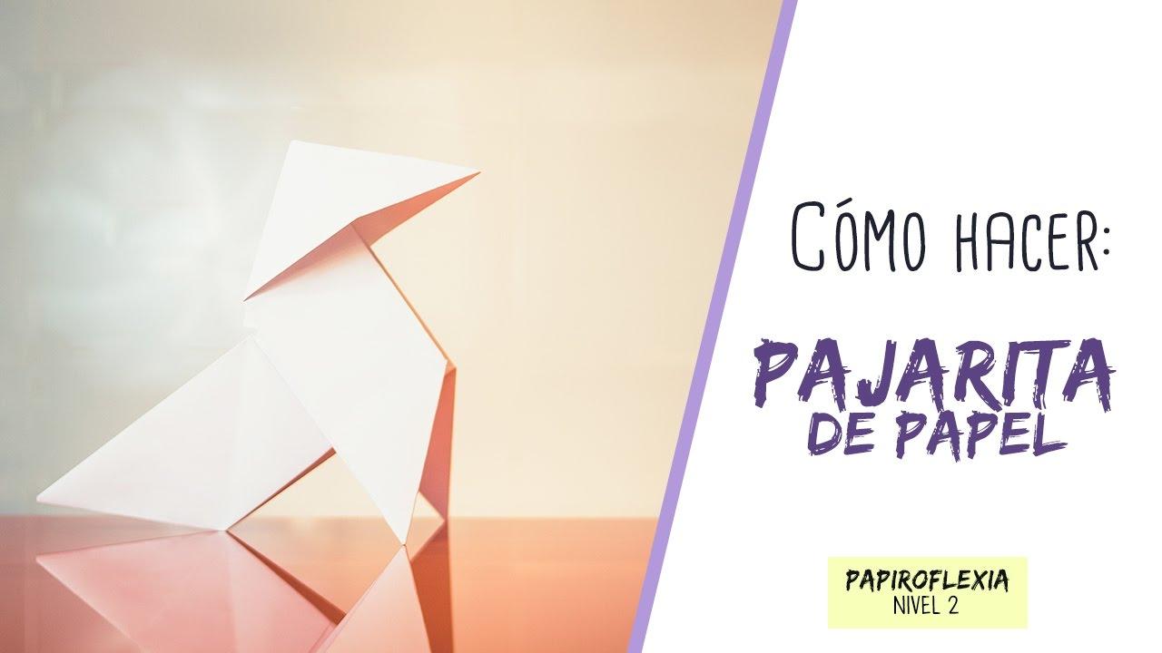 Como hacer una pajarita de papel nivel 1 don papiro for Construir una pileta de material