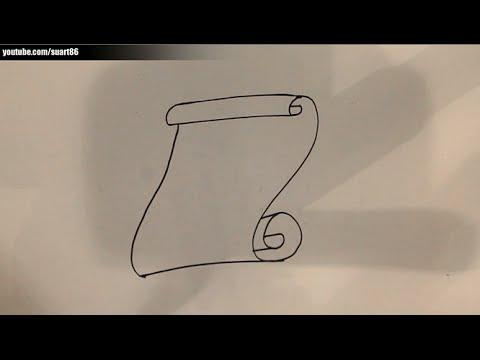 Como dibujar un pergamino