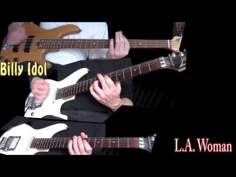 Billy Idol - L.A. Woman (Guitar & Bass cover)