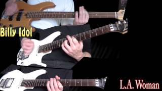 Billy Idol - L.A. Woman (Guitar & Bass cover)