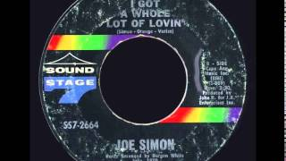 Joe Simon - I Got a Whole Lot of Lovin