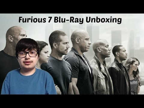 Furious 7 Blu-Ray unboxing