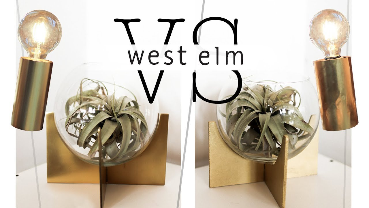 WE TRIED DIY-ING EXPENSIVE WEST ELM DECOR - YouTube