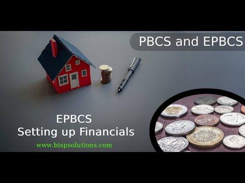 EPBCS Setting up Financials