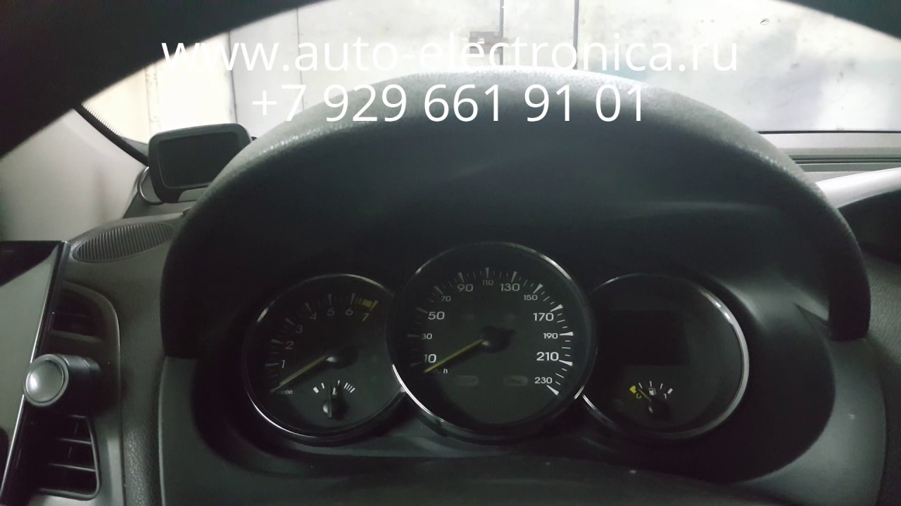 Скрутить пробег, или Коррекция одометра Renault Logan 2, демонтаж .