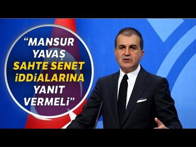 AK Parti Sözcüsü Ömer Çelik'ten Mansur Yavaş Açıklaması