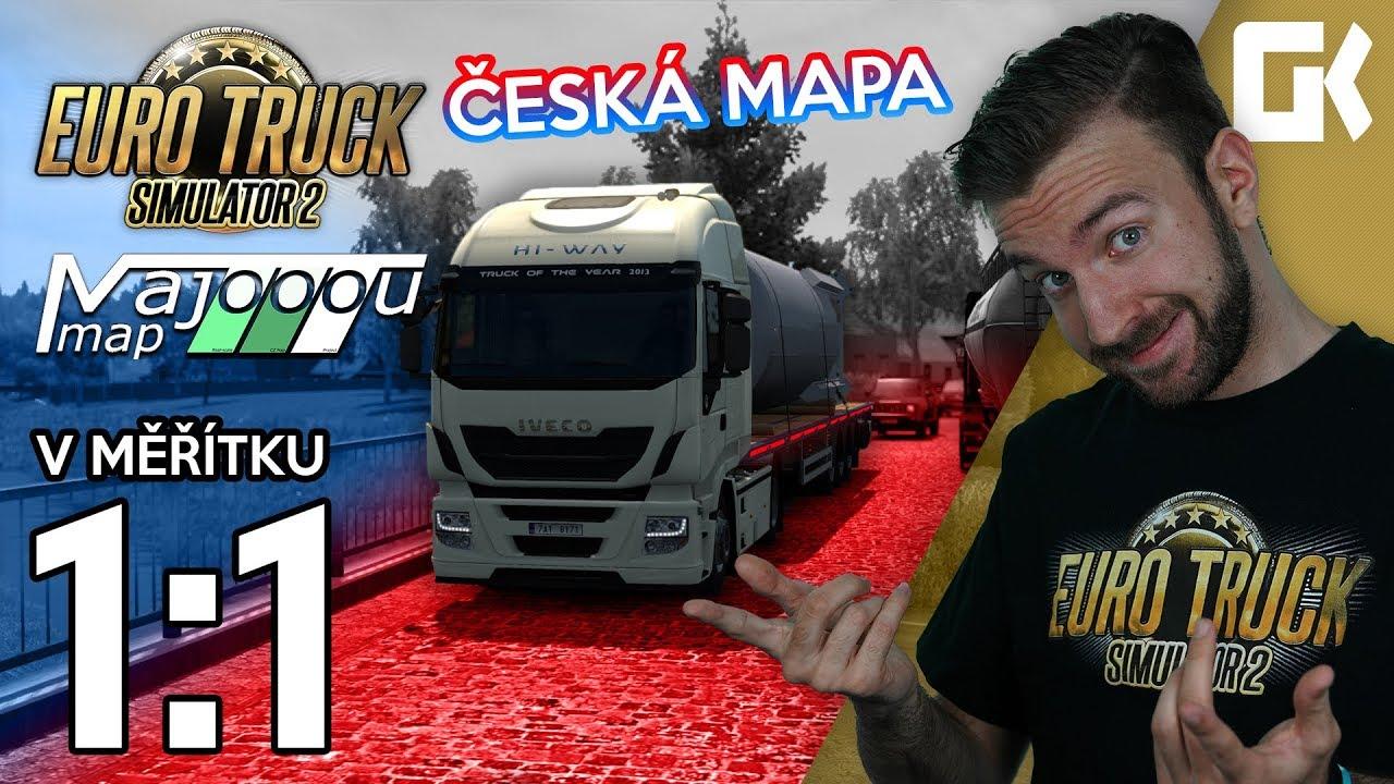 ČESKÁ MAPA V MĚŘÍTKU 1:1! | Euro Truck Simulator 2 MajooouMap #01