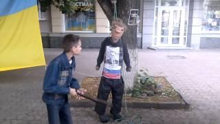 чучело Путина били битой