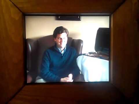"""Me watching """"James Ehnes"""" by Peter Wilkins at the Venice Biennale"""