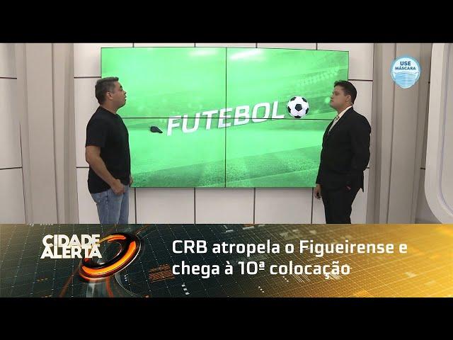Futebol: CRB atropela o Figueirense e chega à 10ª colocação