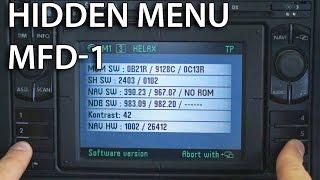 How to enter hidden service menu in MFD 1 (DX VW Passat Golf Škoda Seat Ford GPS navi)