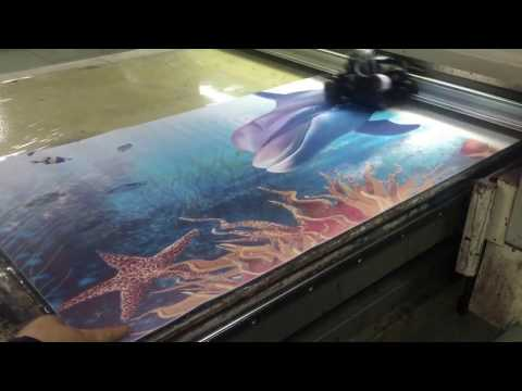 Yoga mat printing machine, digital flatbed printer