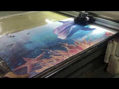 Yoga mat printing machine, digital flatbed printer