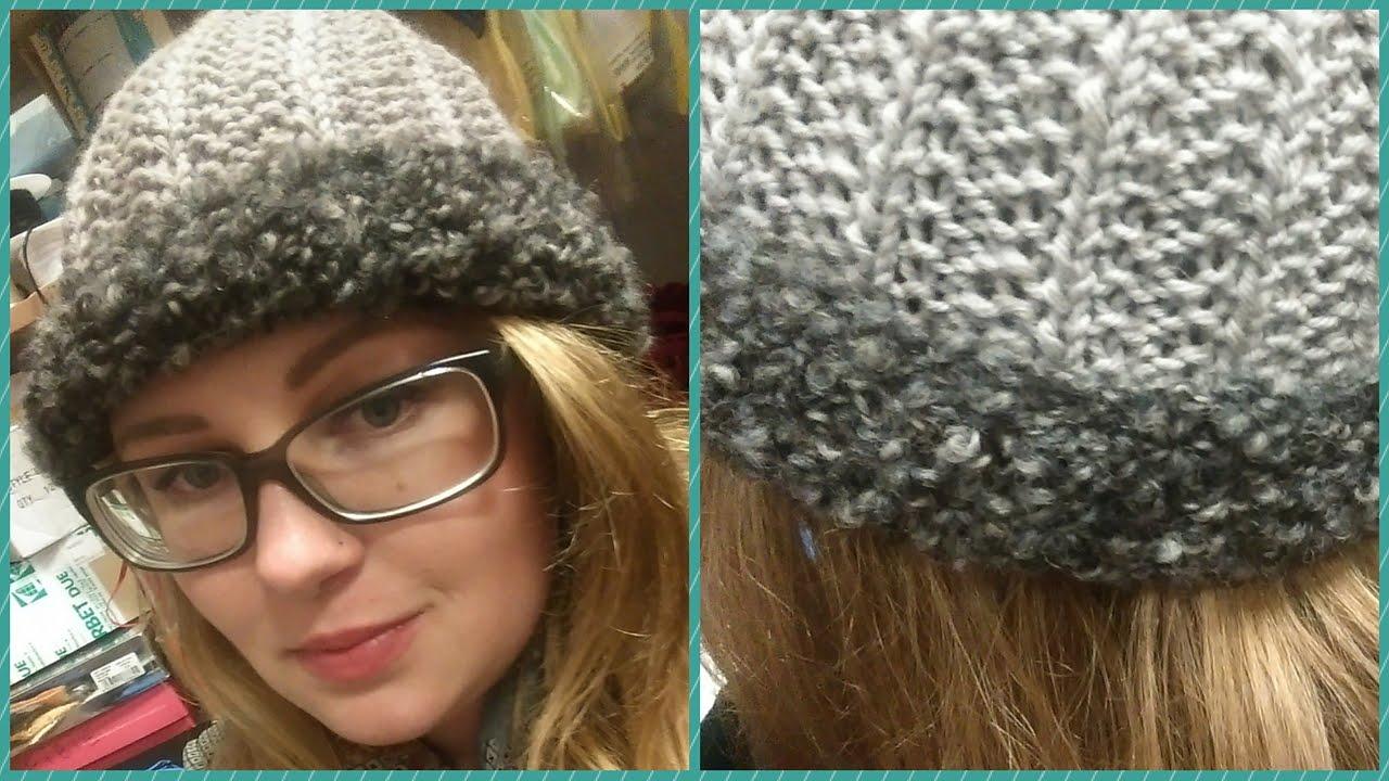 Cappellino ai ferri - tutorial cuffia finta maglia inglese  276e257cba07