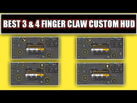 Best 3 & 4 finger claw custom hud of free fire part-3